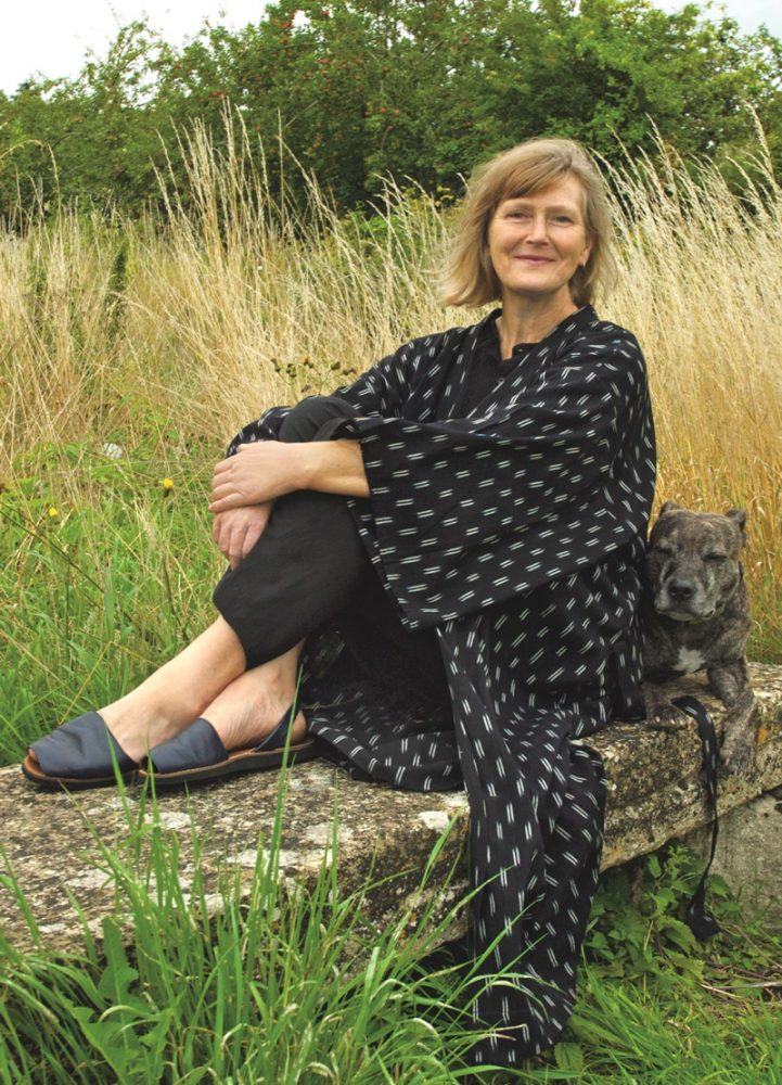 Kimono over black pyjama trouser